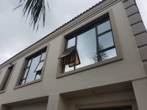 Mirror Finish 4 Opener Bronze Aluminium Window