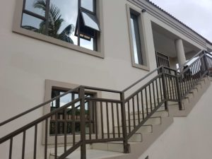 Bronze Aluminium Balustrades and window